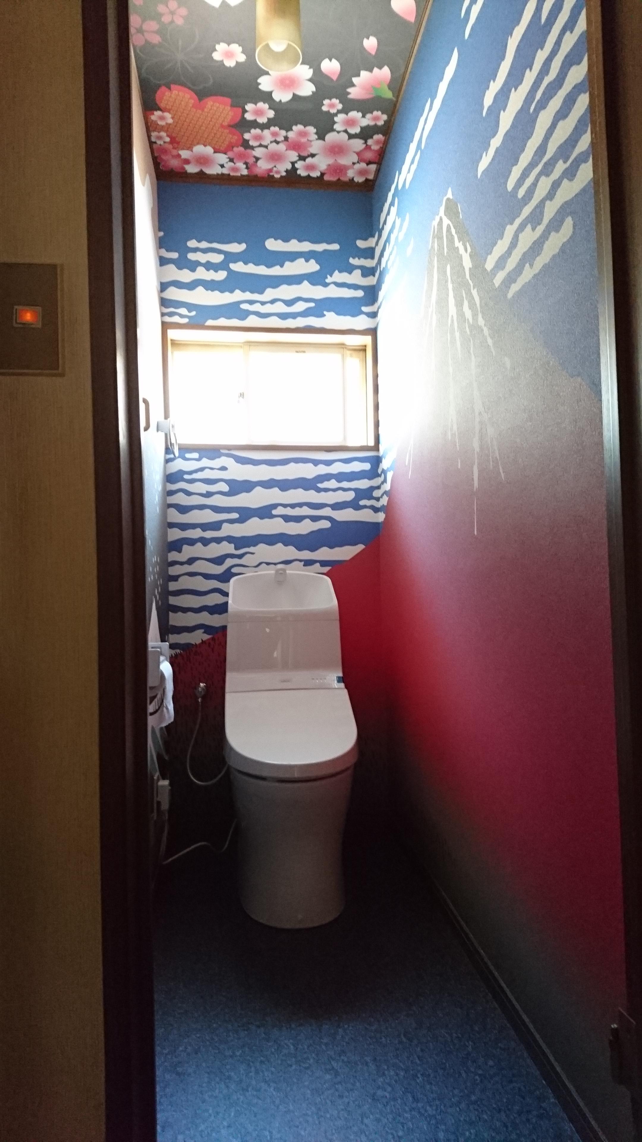 圧巻 トイレの壁紙 ハウジングアイ 水戸市の新築住宅 リフォーム